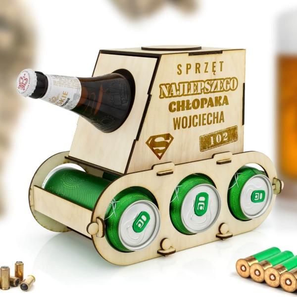 czołg na piwo z grawerem dla chłopaka na prezent