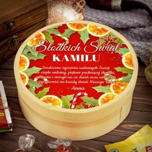 słodki upominek z nadrukiem imienia na prezent