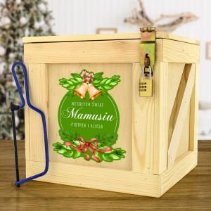 drewniany box prezentowy dla mamy na święta