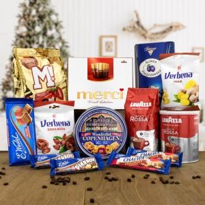 zestaw prezentowy ze słodyczami na święta