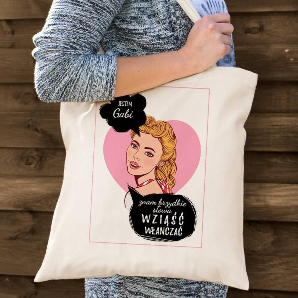 torba bawełniana z nadrukiem dla mola książkowego