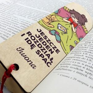 prezent dla niej zakładka do książki z grawerem
