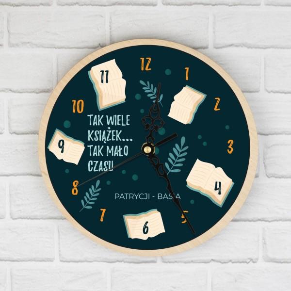 prezent dla mola książkowego zegar z nadrukiem