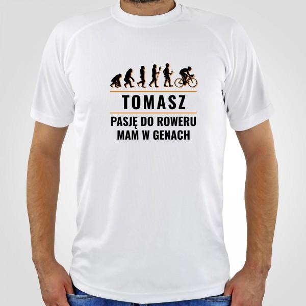 koszulka z nadrukiem dla rowerzysty