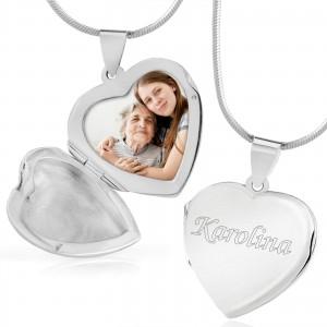 srebrna zawieszka serce z grawerem próba 925