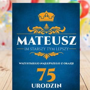 kartka na 75 urodziny dla mężczyzny