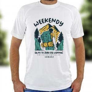 koszulka męska z nadrukiem dla miłośnika gór