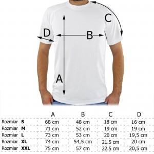 tabela rozmiarów koszulki męskiej