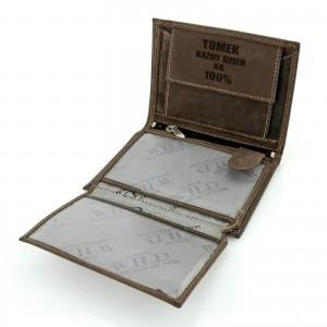 męski portfel skórzany z personalizowanym grawerem