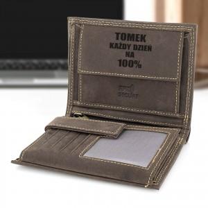 portfel męski skórzany z grawerem dla mężczyzny
