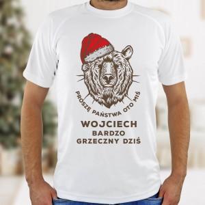 koszulka z nadrukiem dla mężczyzny na święta