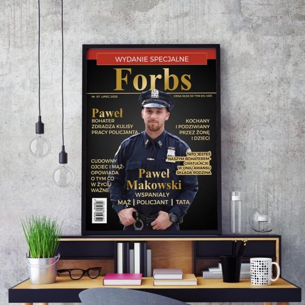 okładka magazynu na prezent dla policjanta
