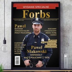 spersonalizowana okładka magazynu dla policjanta na prezent