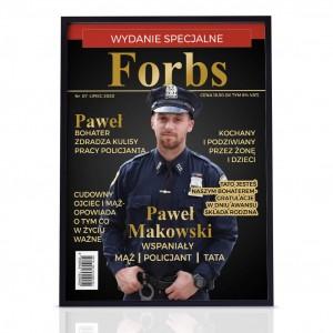 okładka magazynu ze zdjęciem dla policjanta