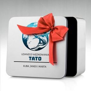 puszka na prezent dla taty z personalizowanym nadrukiem