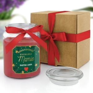 świeca zapachowa na prezent dla mamy na święta w ekologicznym kartoniku