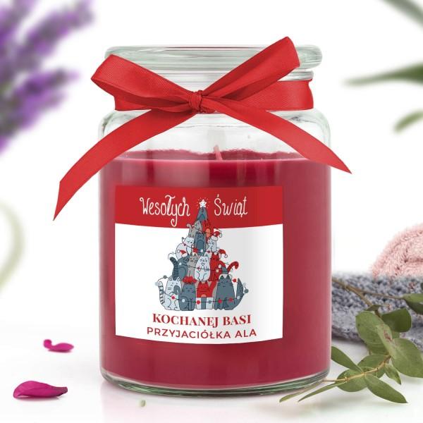 świeca zapachowa na prezent dla przyjaciółki na święta