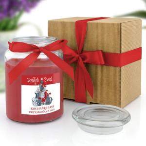 świeca zapachowa w słoiku z opakowaniem prezentowym
