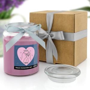 świeczka zapachowa z personalizacją w ekologicznym opakowaniu