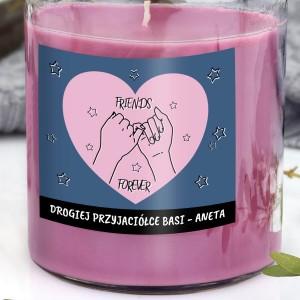 personalizowana świeca zapachowa dla przyjaciółki na prezent