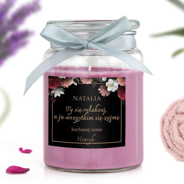 świeca zapachowa na prezent dla żony