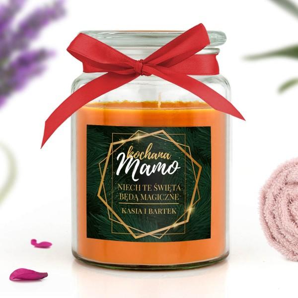 świeca zapachowa w słoiku z dedykacją dla mamy