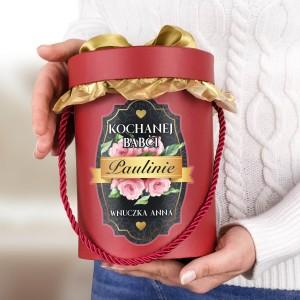 flower box z dedykacją dla babci