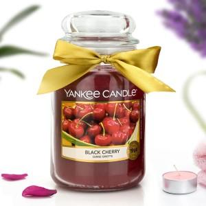 yankee candle świeca zapachowa black cherry duża w słoiku