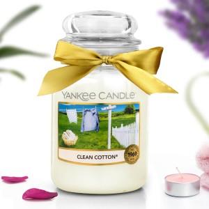 świeca yankee candle clean cotton