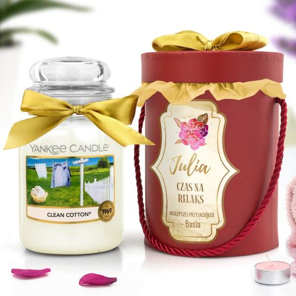 świeca zapachowa yankee candle i flower box