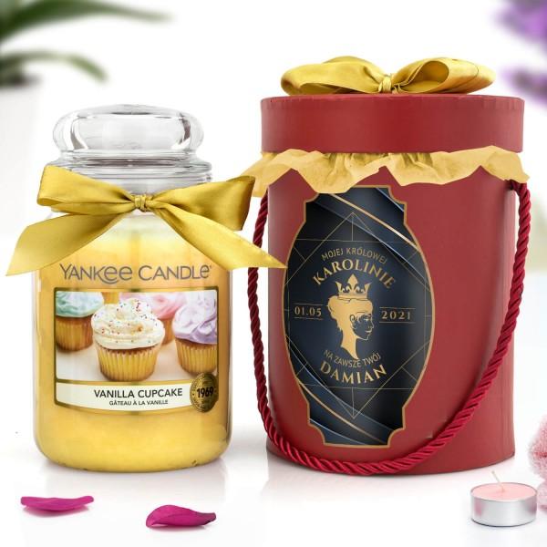 yankee candle i flower box z personalizacją