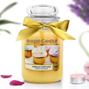 yankee candle świeca zapachowa w słoiku vanilla cupcake