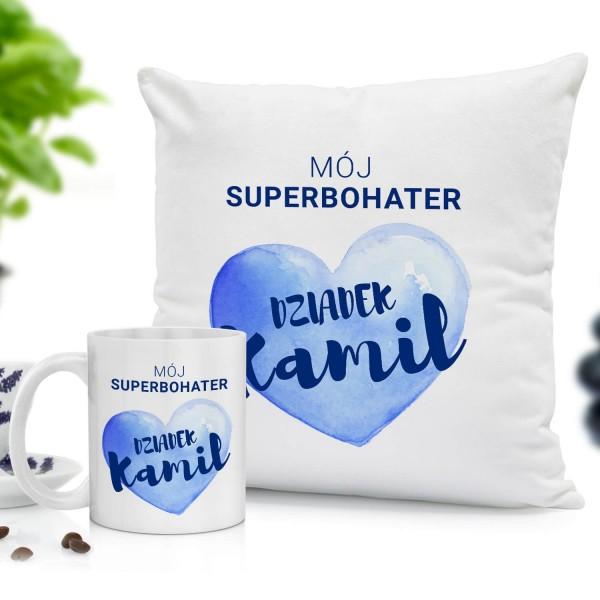 poduszka i kubek z personalizacją dla dziadka