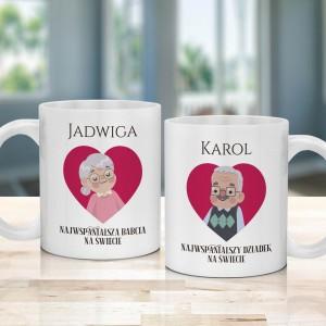 kubki z personalizacją dla babci i dziadka