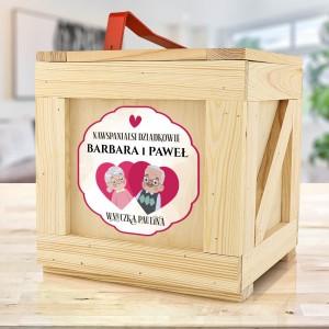 drewniany box na prezenty