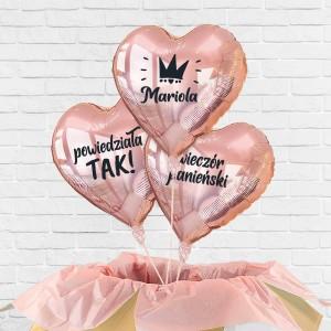 prezent na wieczór panieński balony z helem