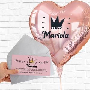 balony z helem w pudełku niespodzianka