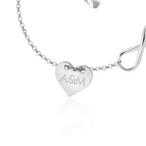 srebrna bransoletka serce na dzień kobiet