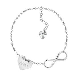 prezent na dzień kobiet srebrna bransoletka nieskończonośc