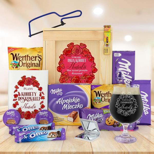 zestaw prezentowy ze słodyczami na dzień kobiet