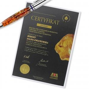 certyfikat autentyczności bursztynu