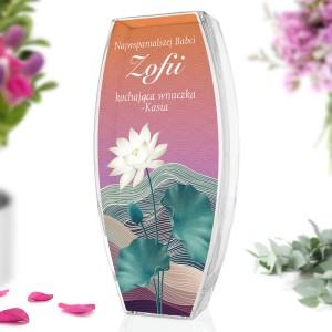 wazon szklany z nadrukiem dla babci