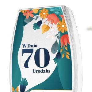 prezent na 70 urodziny wazon z nadrukiem
