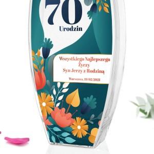 wazon na kwiaty z personalizacją na 70 urodziny babci