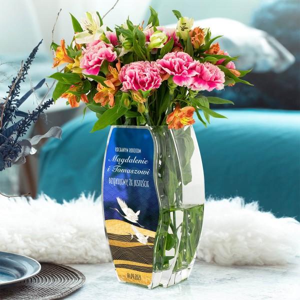 wazon szklany z nadrukiem imion