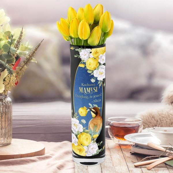 czarny wazon dekoracyjny krosno