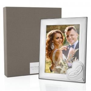 srebrna ramka na zdjęcie ślubne