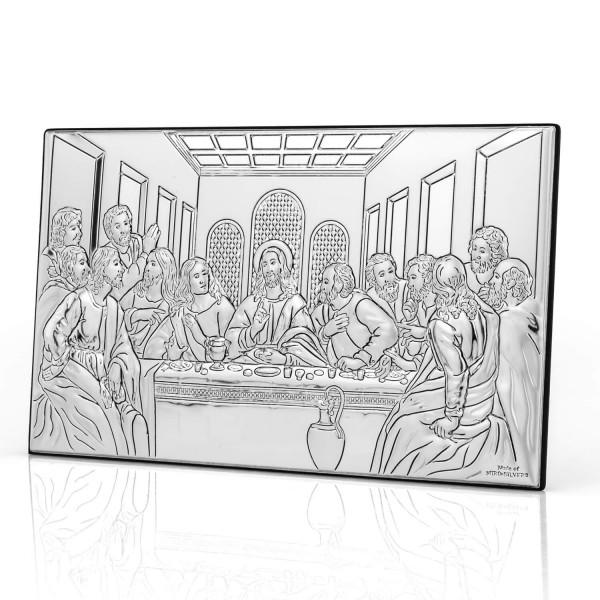 srebrny obrazek ostatnia wieczerza dla księdza