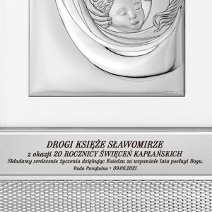 prezent dla księdza obraz w srebrnej ramie