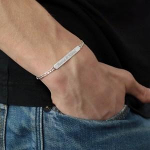 srebrna bransoletka z grawerem
